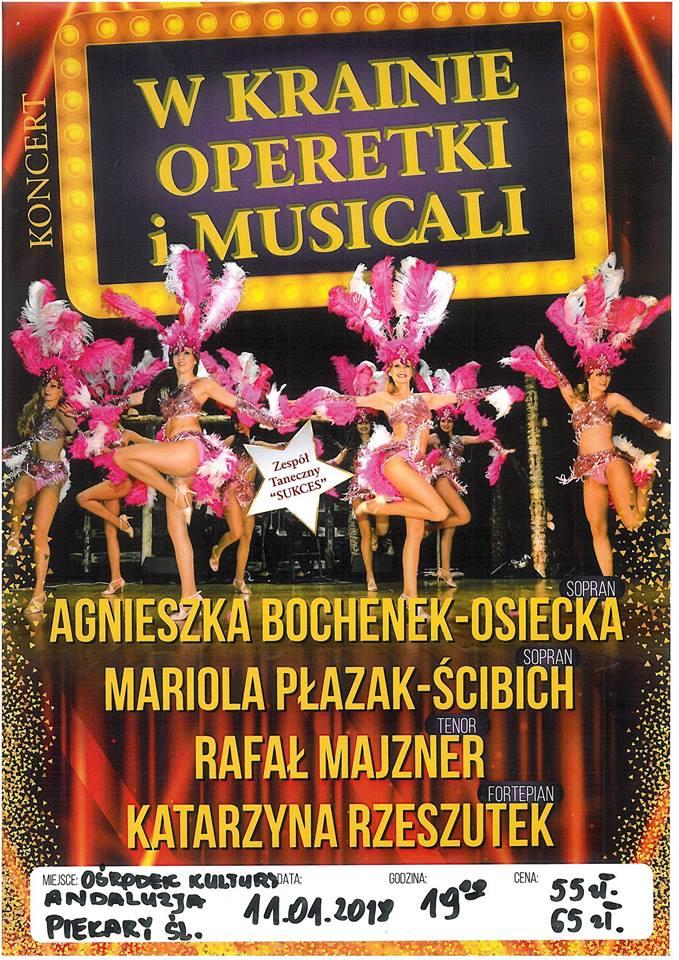 UWAGA Zmiana terminu W krainie operetki i musicali