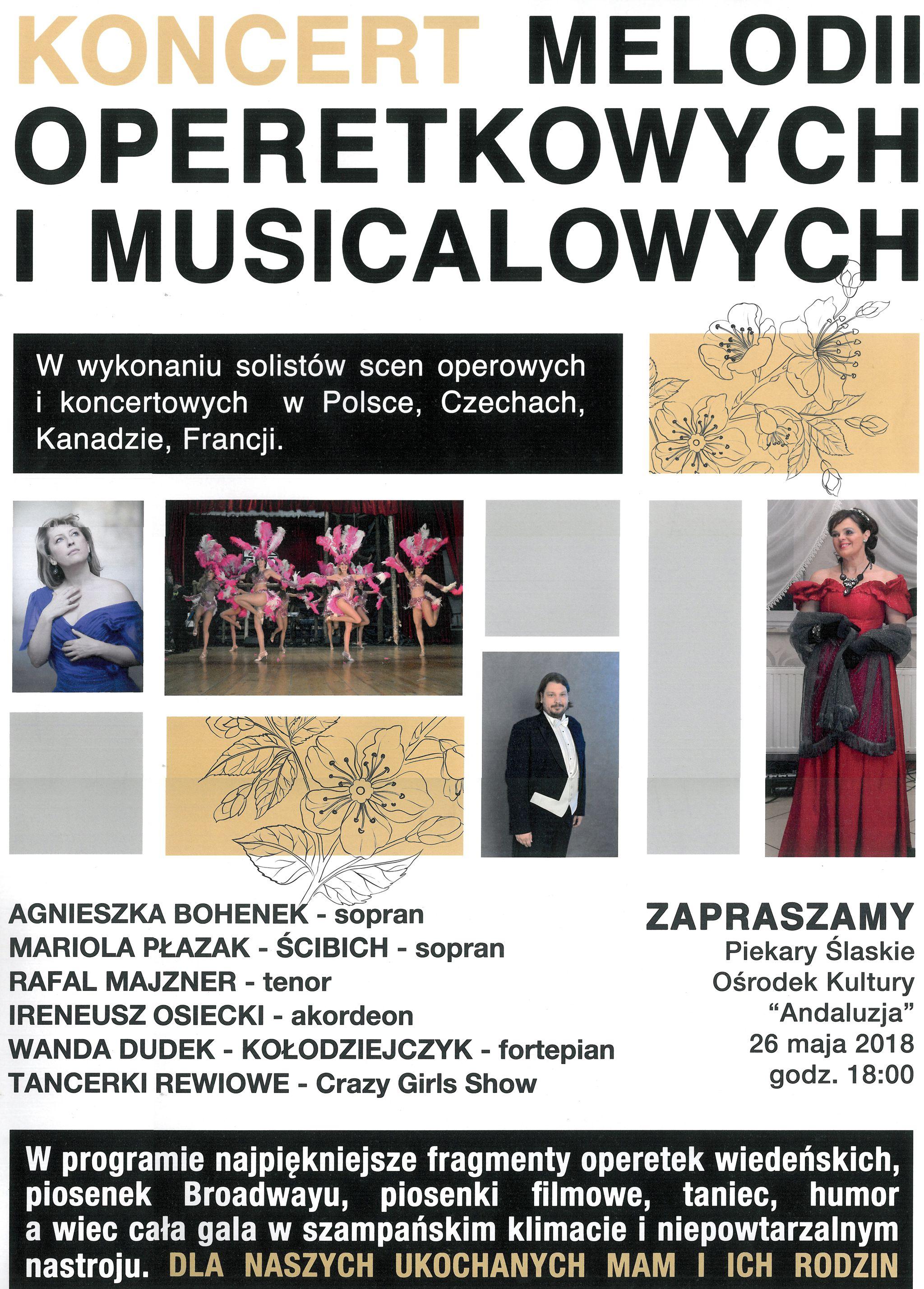 """Koncert z okazji Dnia Mamy – """"W krainie operetki i musicali"""""""