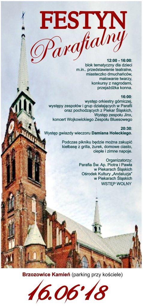 Festyn Parafialny w Brzozowicach Kamieniu (parking przy kościele) 16.06.2018r.
