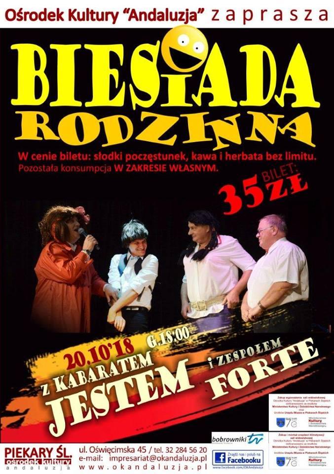 BIESIADA RODZINNA  z Kabaretem JESTEM!!! 20.10.2018 :)