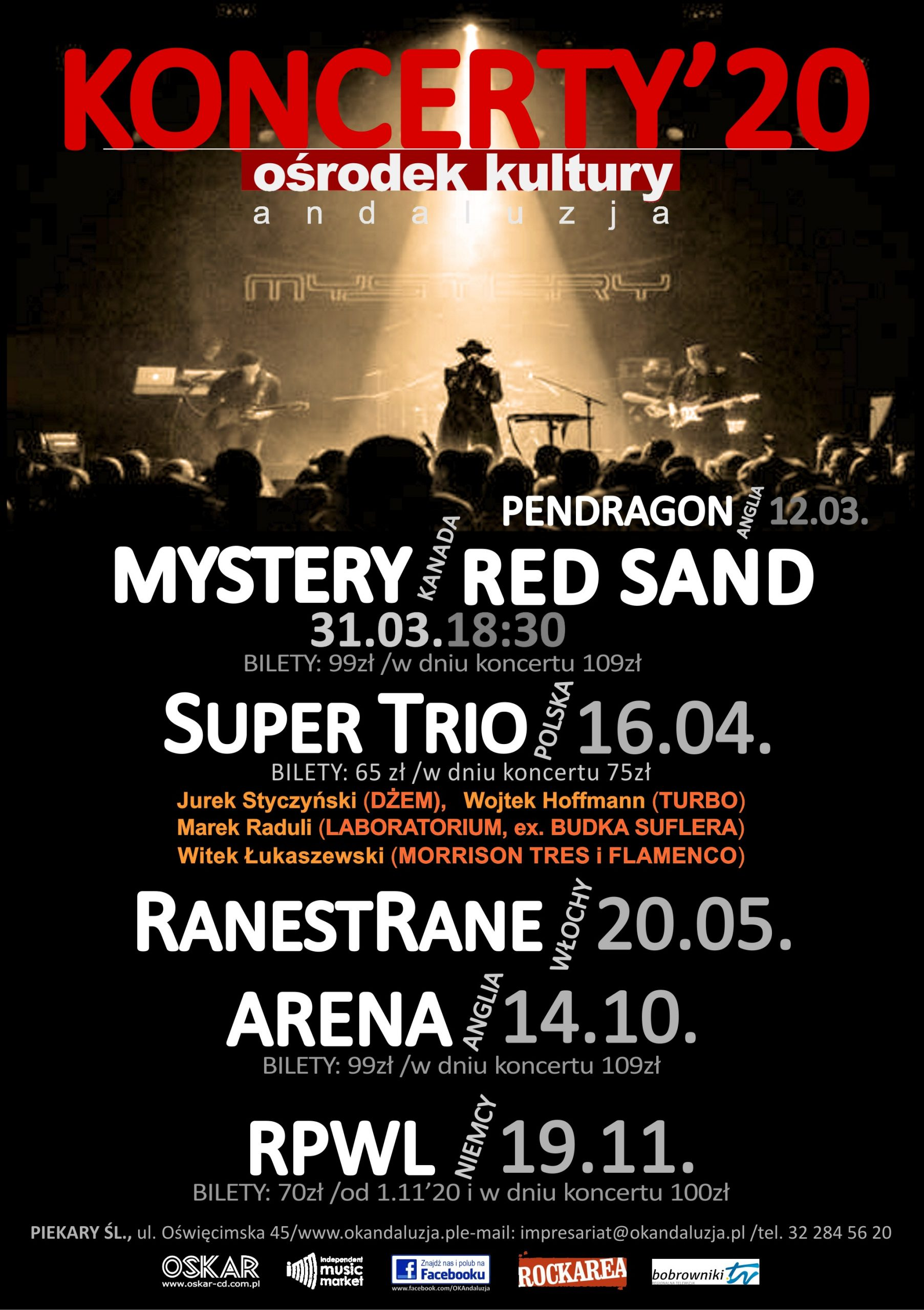 Zapowiedzi koncertowe w Andaluzji!